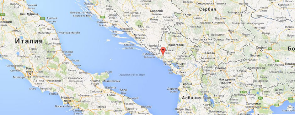 Черногория карта