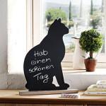 Стильная доска для записей мелом в виде кошки