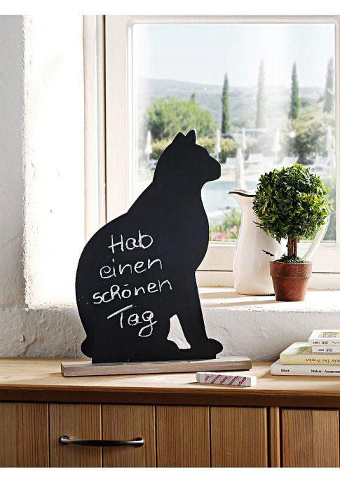 доска для записей мелом в виде кошки