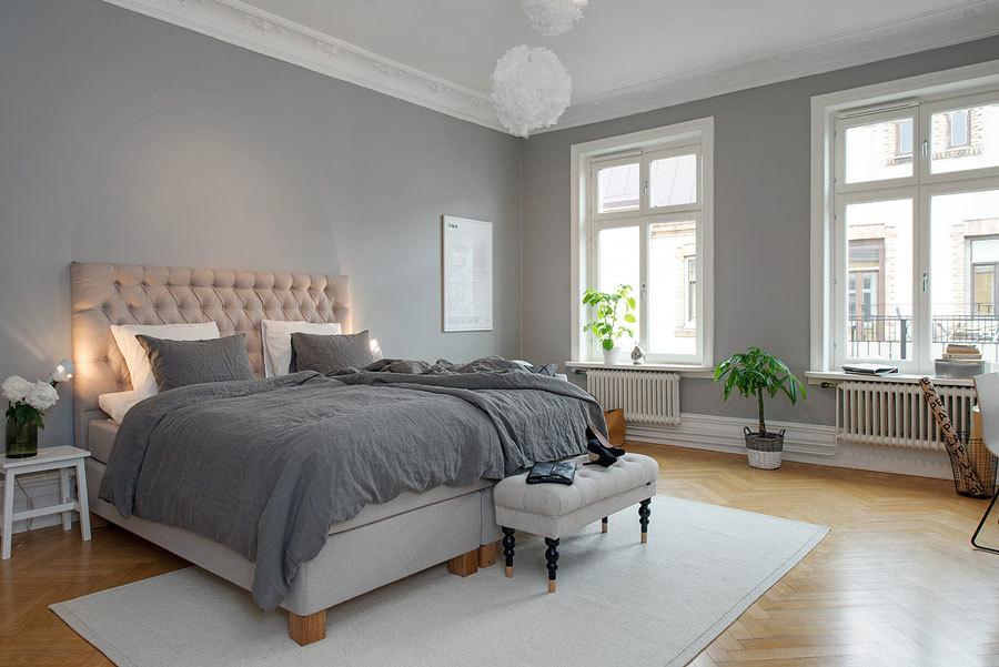 Изящный интерьер квартиры в серых тонах, Швеция