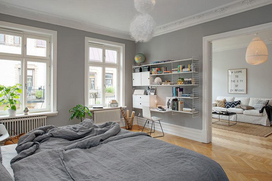 интерьер квартиры в серых тонах фото