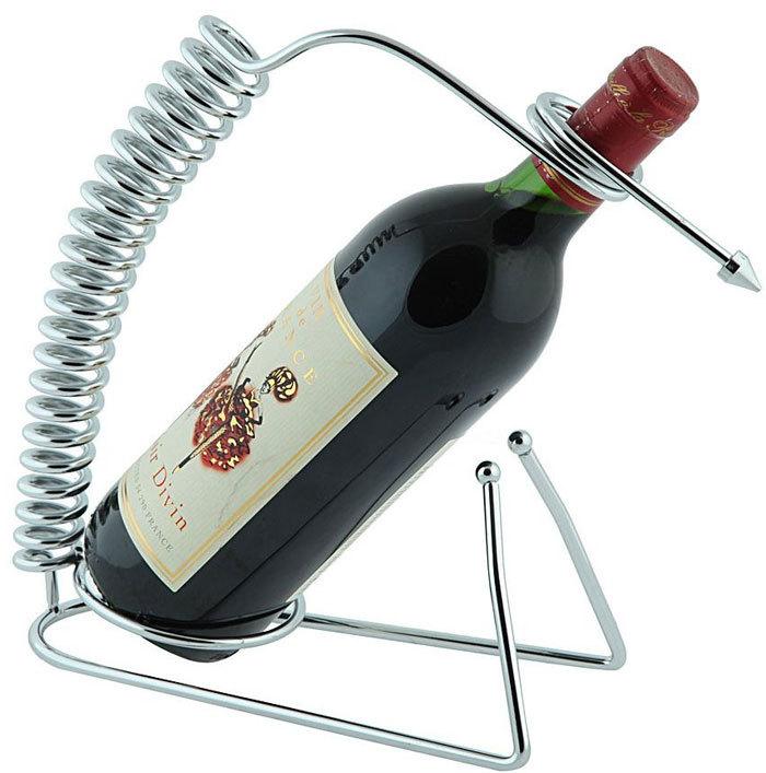 стильная подставка-спираль для вина
