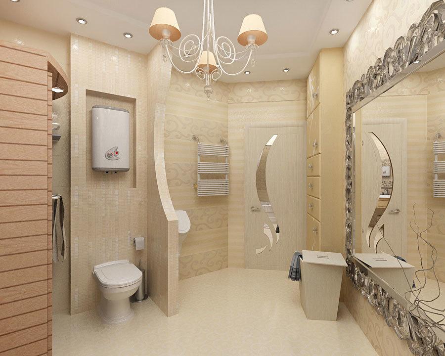 Корзины для белья в интерьере ванной комнаты