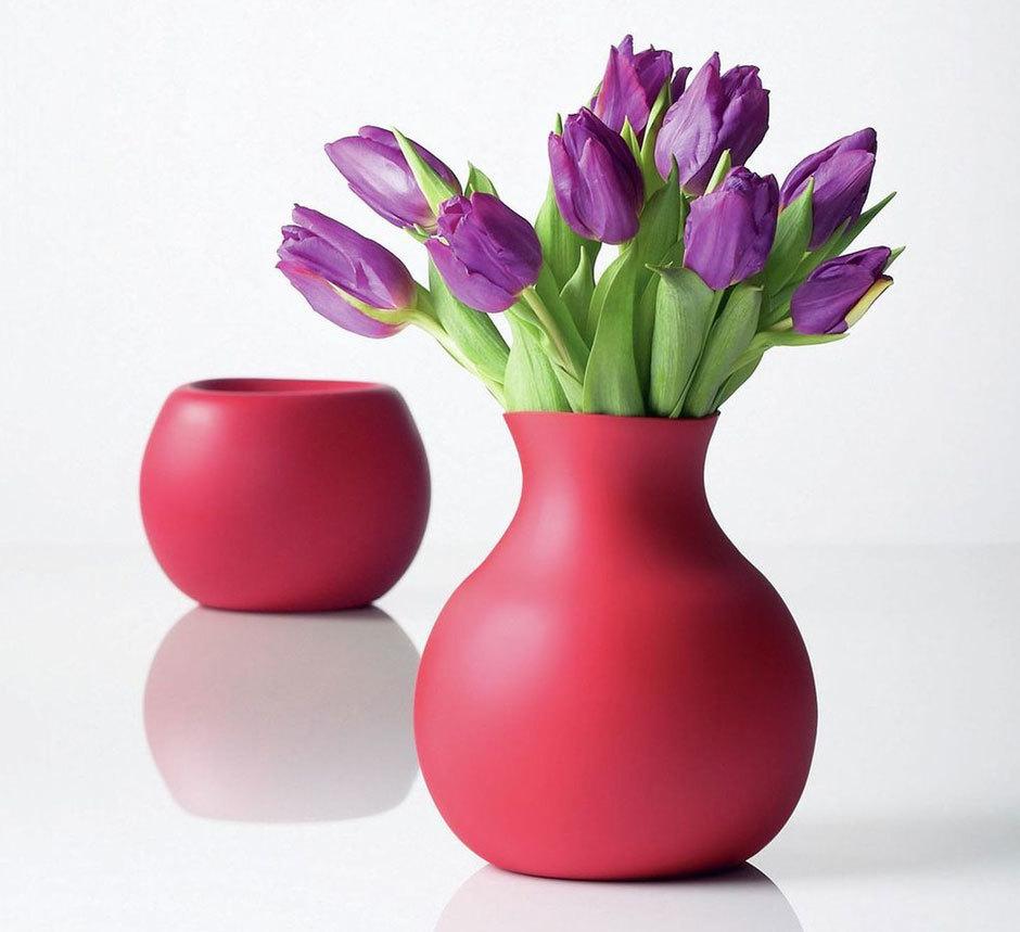 ваза с тюльпанами