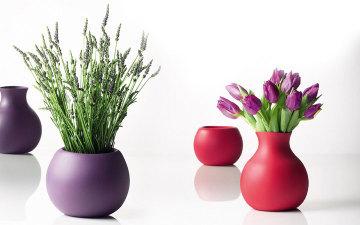 Модный интерьер: резиновая ваза BRIGHT COLOR