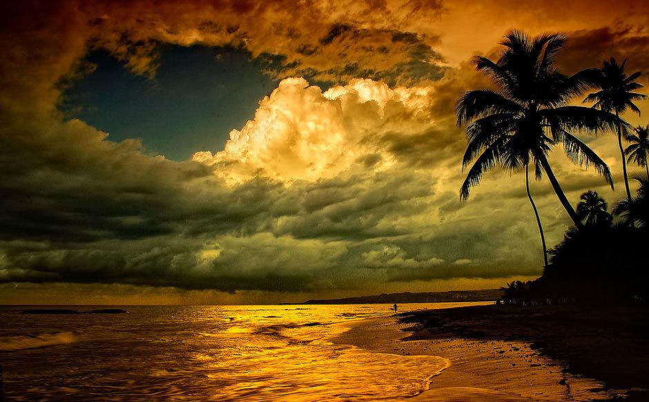 Доминиканская Республика, закат.