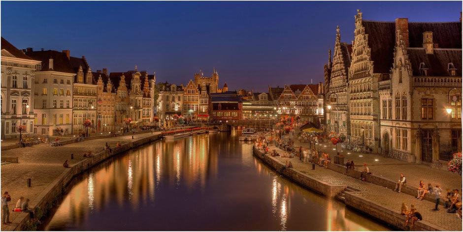 Старинный город Гент в Бельгии