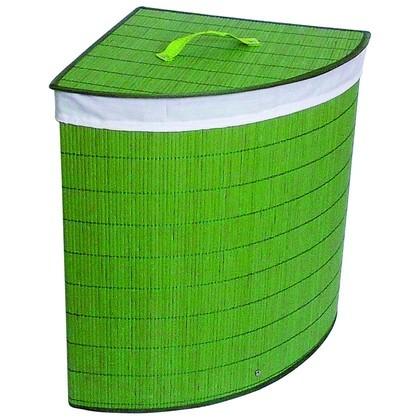 зеленая угловая корзина для белья