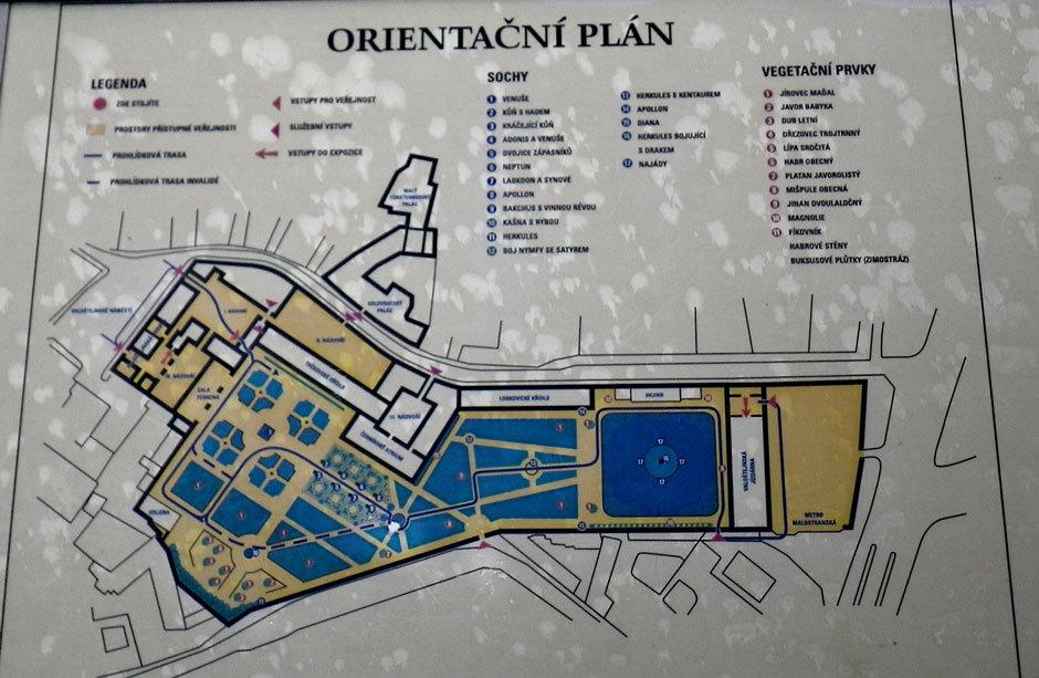 План-сехма Вальдштейнского сада