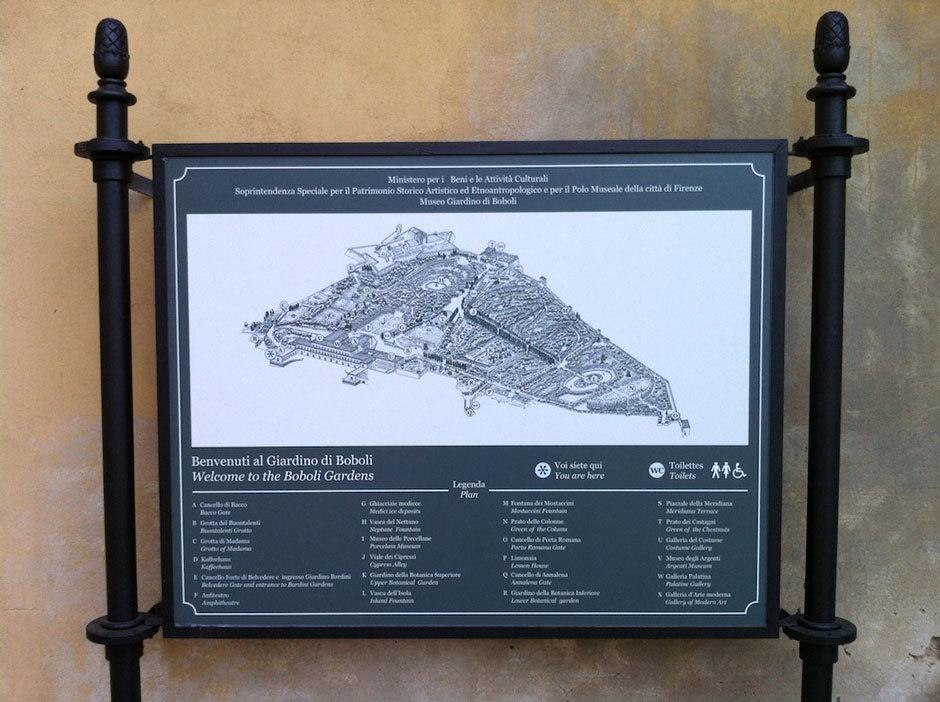 Сады Боболи карта парка