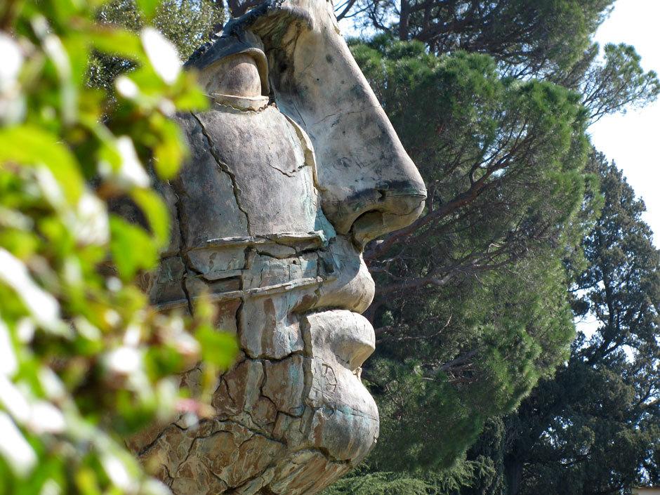Сады Боболи статуя голова