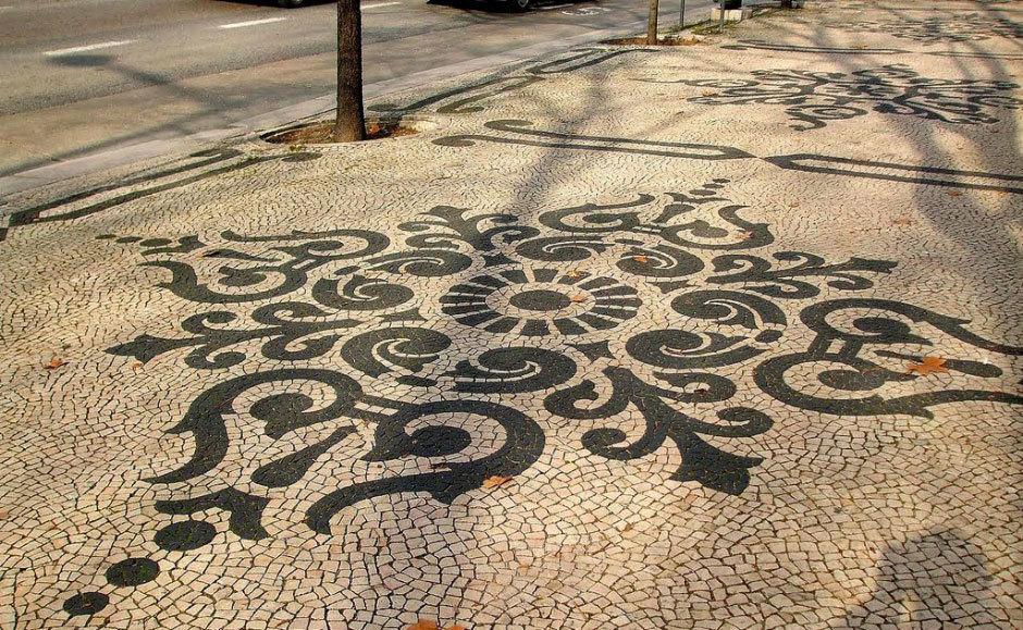 тротуарная плитка на Авенида да Либердаде (2)