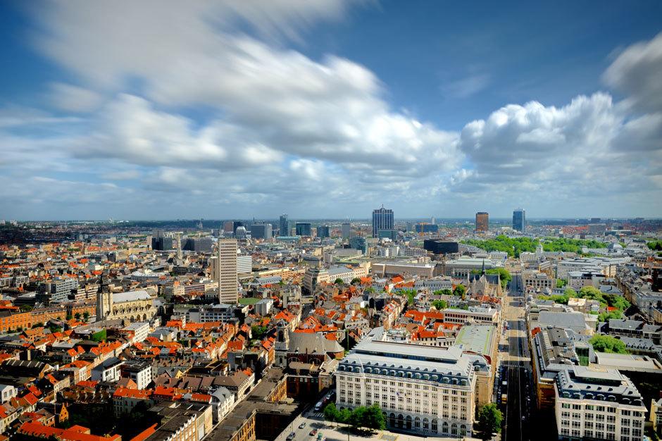 Брюссель вид на город