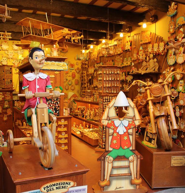 Пиноккио магазин игрушек