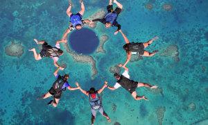 Прыжок с парашютом в Голубую дыру (Египет)