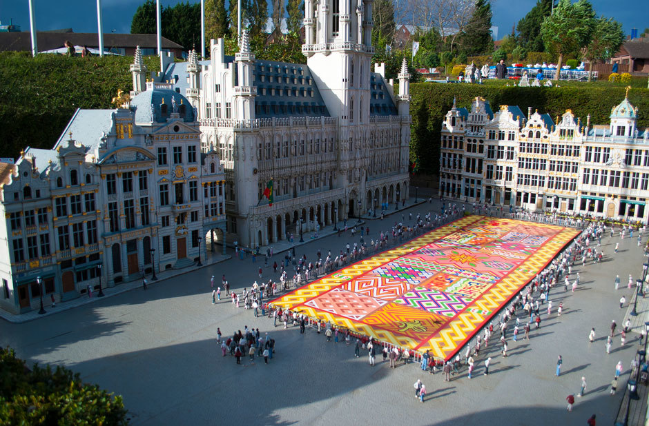 ковер из цветов в Брюсселе (1)