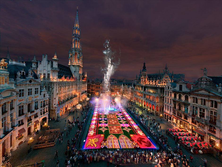 ковер из цветов в Брюсселе (4)