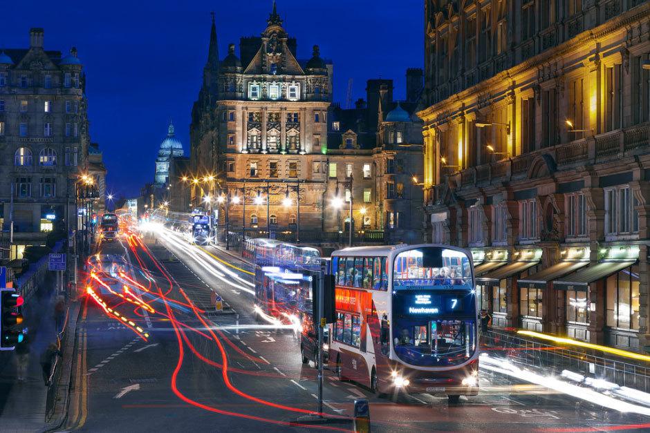 ночной Единбург