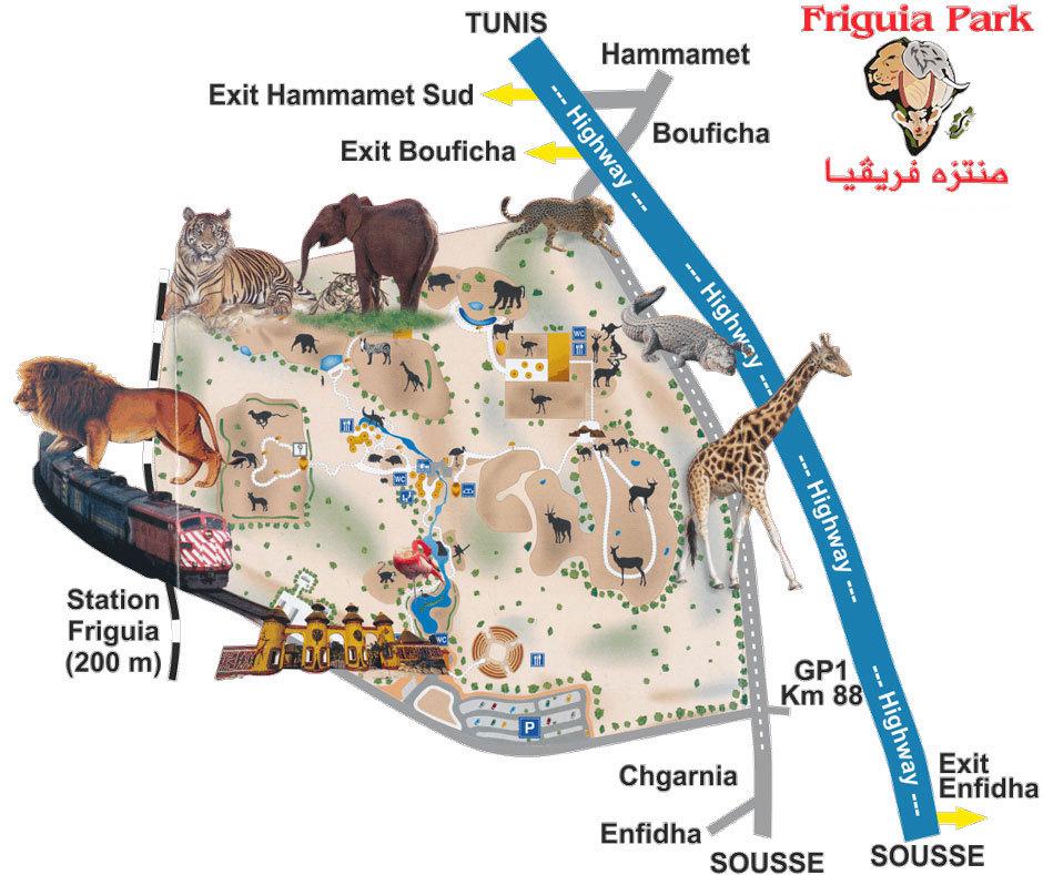 парк Фригия в Тунисе карта (2)