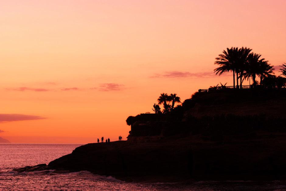 Закат на Канарских островах