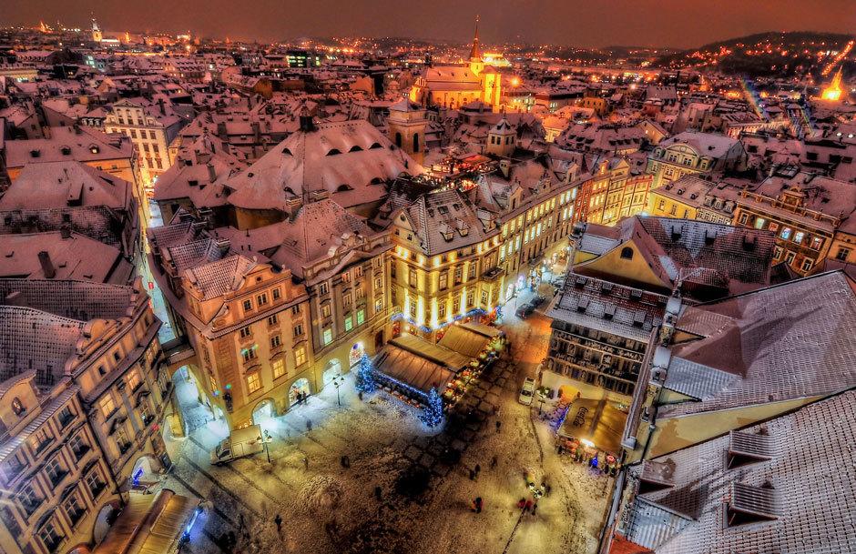 Прага в январе фото