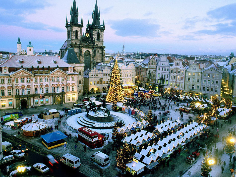 Прага зима фото