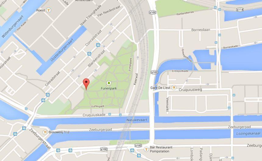 Фуненпарк на карте Амстердама