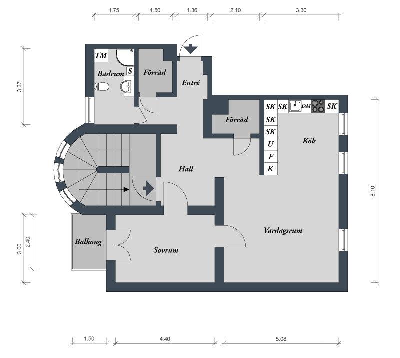 План квартиры 82 кв.м.