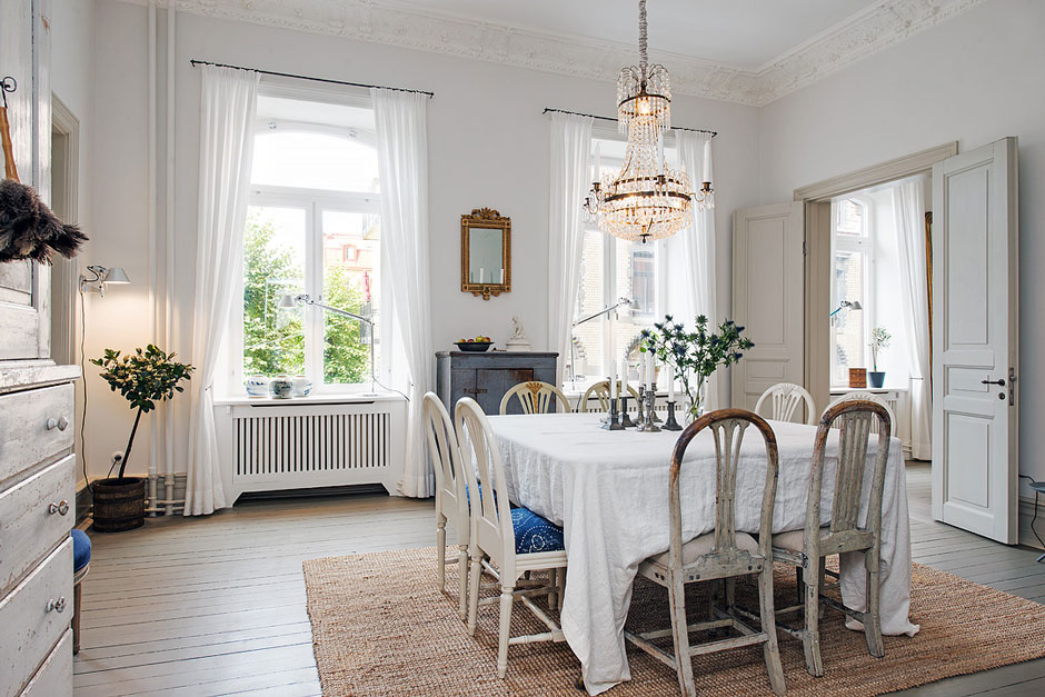 шведский интерьер в стиле ретро