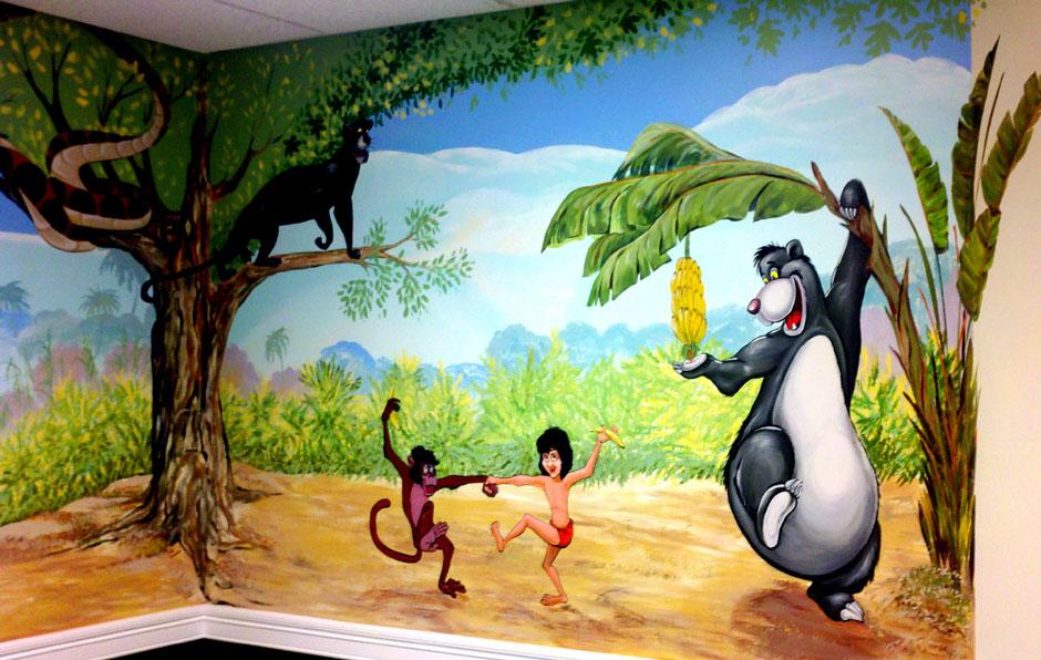 Роспись стен в детской тема Джунгли