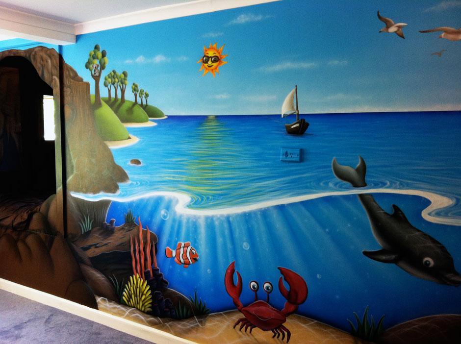 роспись стен детской