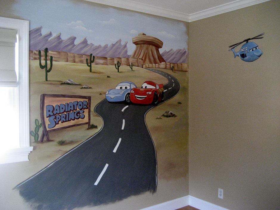 тачки роспись стен