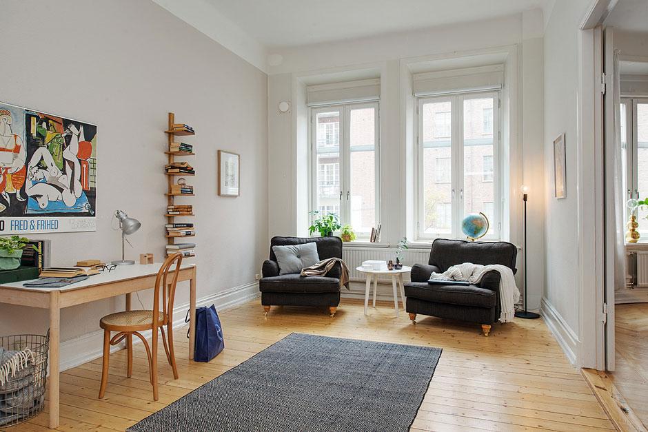 кабинет в шведской квартире