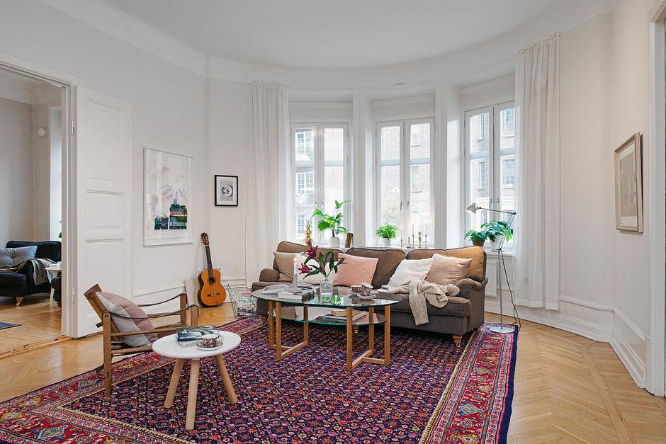 шведская гостиная