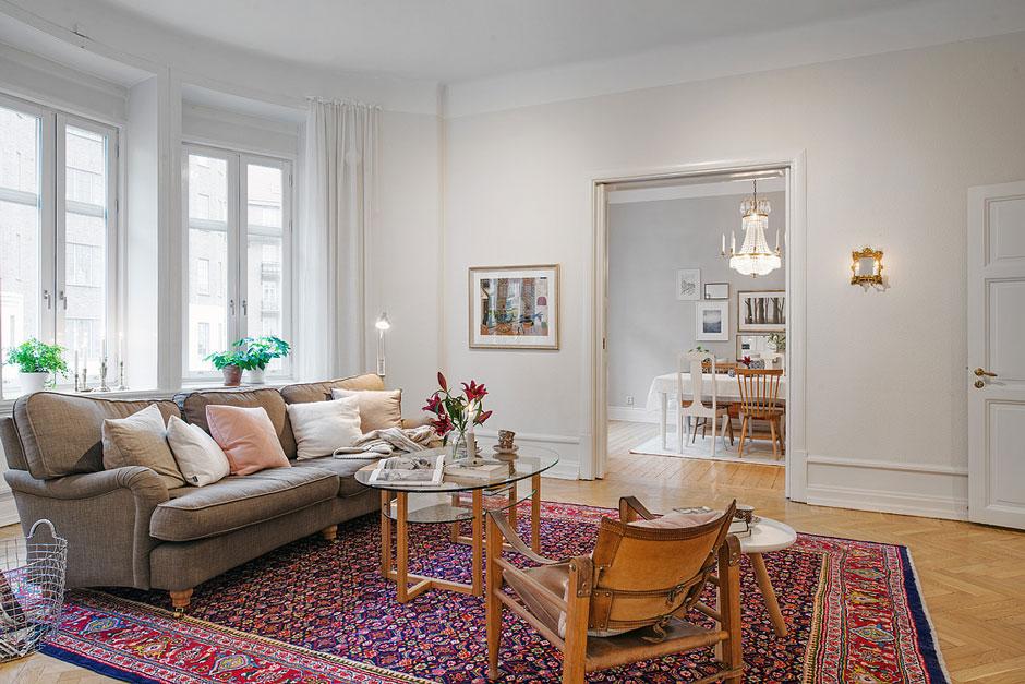 Дизайн интерьера пятикомнатной квартиры в Швеции