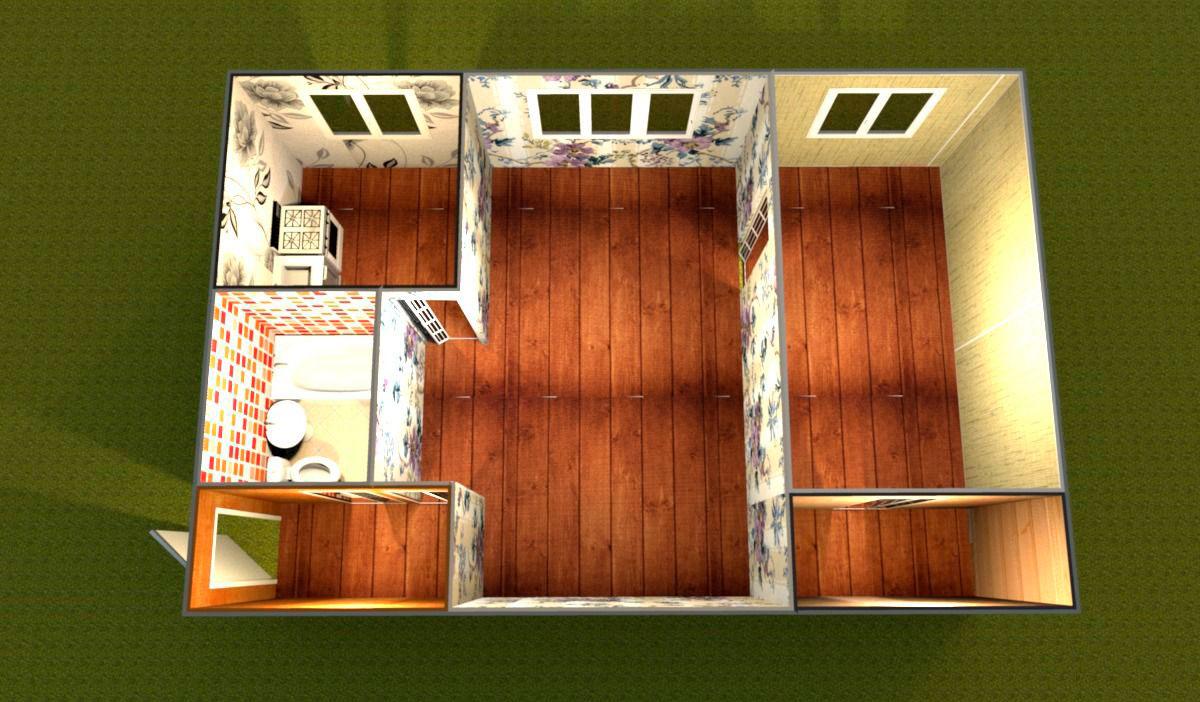 перепланировка 2-х комнатной квартиры-хрущевки фото