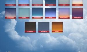 15 реалистичных градиентов неба для фотошоп