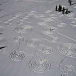 Снежные круги на полях в Колорадо