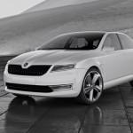 Снежно-белый концепт кар Skoda VisionD