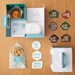 Cовременный дизайн упаковки для завтрака без молока
