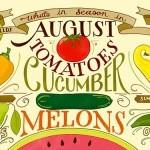 Забавная летне-осенняя овощная иллюстрация от Heather Diane Hardison