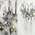 Захватывающие трехмерные коллажи из цветов от Anne Ten Donkelaar