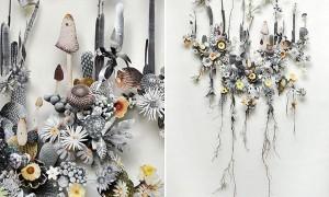 трехмерные коллажи из цветов от Anne Ten Donkelaar