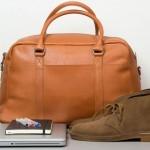 Мужская кожаная сумка The John Weekender от Sandqvist
