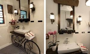 Интересная идея для ванной комнаты