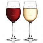 Стильные бокалы для вина Fred&Friends с градуировкой
