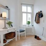 Интерьер в белых тонах очаровательной квартиры в Гетеборге