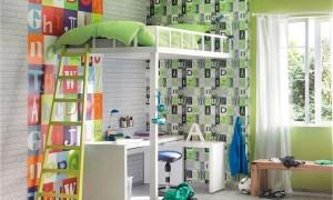 обои для детской комнаты в светло-зеленых тонах