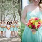 Красивая калифорнийская свадьба в мятных тонах