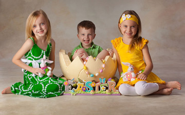 Детская пасхальная фотосессия: интересные идеи и примеры